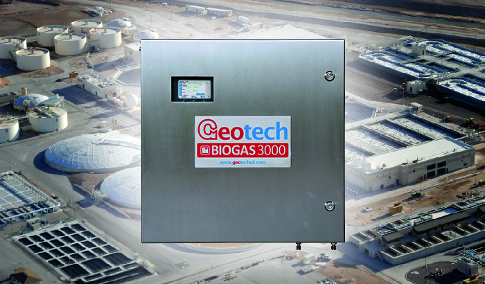 BIOGAS 3000 on a background